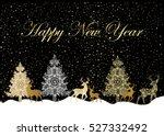 winter forest christmas tree... | Shutterstock .eps vector #527332492
