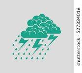thunderstorm icon. gray... | Shutterstock .eps vector #527334016