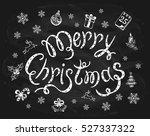 merry christmas written in... | Shutterstock . vector #527337322