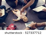 cpr first aid training concept | Shutterstock . vector #527337712