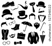retro gentleman fashion set  ... | Shutterstock .eps vector #527348122
