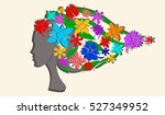 lady abstract sketch | Shutterstock .eps vector #527349952