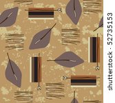 seamless pattern with leaves | Shutterstock .eps vector #52735153