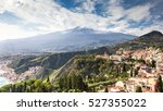 Small photo of Scenic view of Etna Mount from Taormina, Sicily, Italy, Europe.