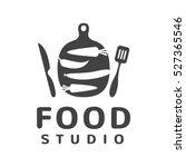 food studio vector logo concept.... | Shutterstock .eps vector #527365546