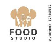 food studio vector logo concept.... | Shutterstock .eps vector #527365552