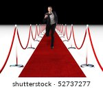 young businessman running on... | Shutterstock . vector #52737277