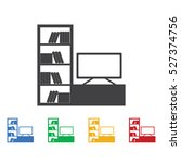 tv set icon. furniture icons... | Shutterstock .eps vector #527374756