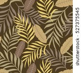 tropical background with palm... | Shutterstock .eps vector #527375545