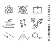 science symbols set.... | Shutterstock .eps vector #527376586