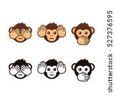 see no evil  hear no evil ... | Shutterstock .eps vector #527376595