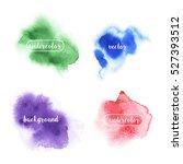 vector watercolor texture.  | Shutterstock .eps vector #527393512