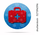 first aid christmas icon in... | Shutterstock .eps vector #527396596