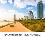 the view on a south pointe park ... | Shutterstock . vector #527409082