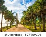 promenade at south pointe park... | Shutterstock . vector #527409106