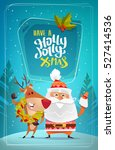 cute santa claus with sweet... | Shutterstock .eps vector #527414536