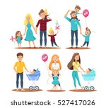 happy family character design ... | Shutterstock .eps vector #527417026