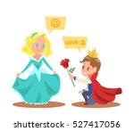 little princesses and princes... | Shutterstock .eps vector #527417056