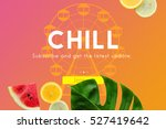 holiday vacation travel... | Shutterstock . vector #527419642