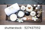 spa massage and treatment on... | Shutterstock . vector #527437552