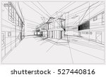 abstract 3d render of building... | Shutterstock .eps vector #527440816