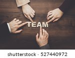 team concept. different hands... | Shutterstock . vector #527440972