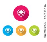 modern box icons with long... | Shutterstock .eps vector #527441416