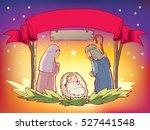 christmas nativity  | Shutterstock .eps vector #527441548