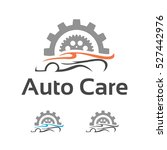 automotive car care gear... | Shutterstock .eps vector #527442976