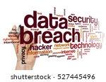 data breach word cloud concept | Shutterstock . vector #527445496