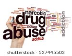 drug abuse word cloud concept | Shutterstock . vector #527445502