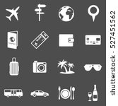 vector set of travel and... | Shutterstock .eps vector #527451562