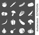 vector set of vegetables icons. ... | Shutterstock .eps vector #527452456