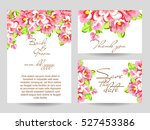 invitation with floral... | Shutterstock . vector #527453386