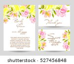 abstract flower background with ... | Shutterstock . vector #527456848
