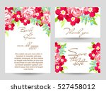 romantic invitation. wedding ... | Shutterstock . vector #527458012