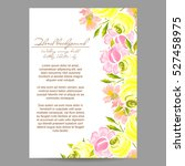 invitation with floral... | Shutterstock . vector #527458975