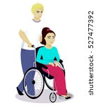 girl with disabilities in a... | Shutterstock .eps vector #527477392