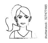 isolated woman cartoon design | Shutterstock .eps vector #527477485