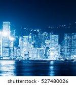 view of victoria harbor in hong ... | Shutterstock . vector #527480026