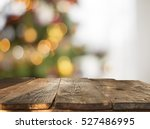 christmas table background with ... | Shutterstock . vector #527486995