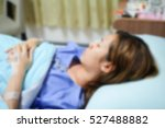 blurred of patient woman... | Shutterstock . vector #527488882