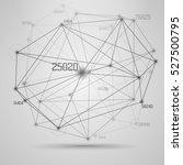 big data visualization .... | Shutterstock .eps vector #527500795