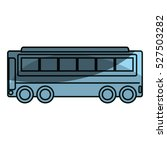 bus vehicle public isolated icon | Shutterstock .eps vector #527503282