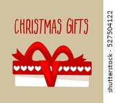 christmas gift box for holiday. ... | Shutterstock .eps vector #527504122