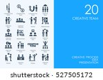 set of creative team icons | Shutterstock .eps vector #527505172