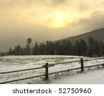 snow and field in the mountains   Shutterstock . vector #52750960