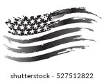 usa flag vector grayscale icon | Shutterstock .eps vector #527512822