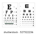 eyes test charts with latin... | Shutterstock . vector #527522236