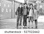 happy schoolchildren in... | Shutterstock . vector #527522662